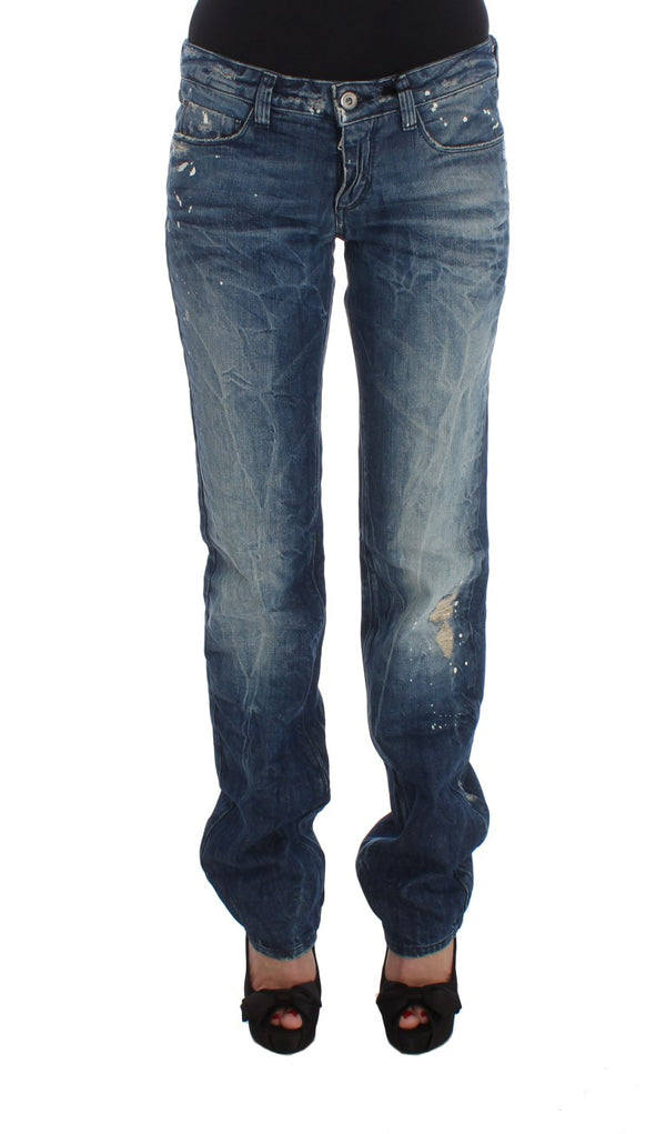 Blue Cotton Regular Fit Denim Jeans