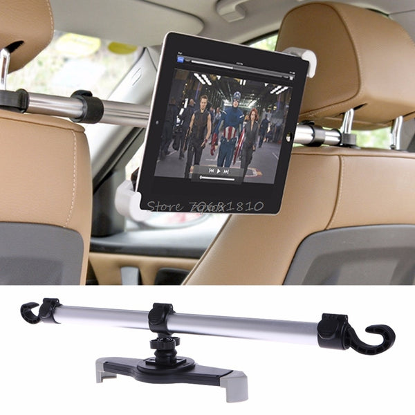"360 Degree Rotation Universal Aluminum Alloy Car Back Seat Mount Stand Holder For Tablet 7""-11"" Drop ship"