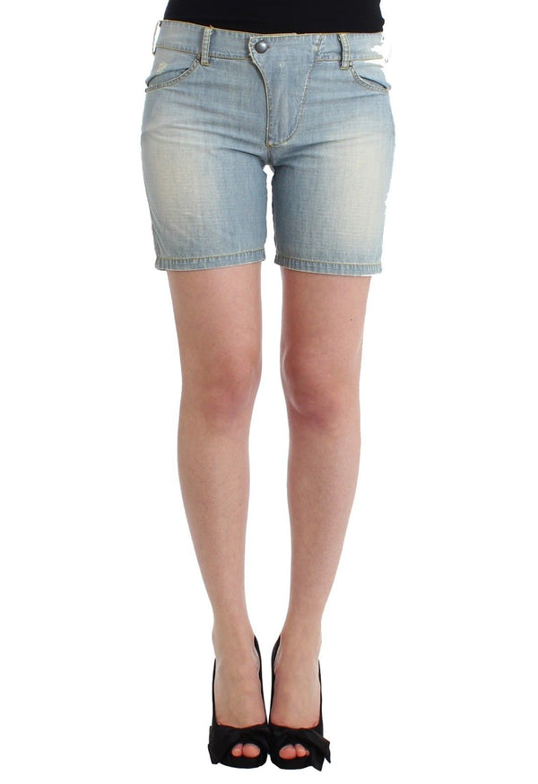 Beachwear Blue Denim City Casual Dress Shorts