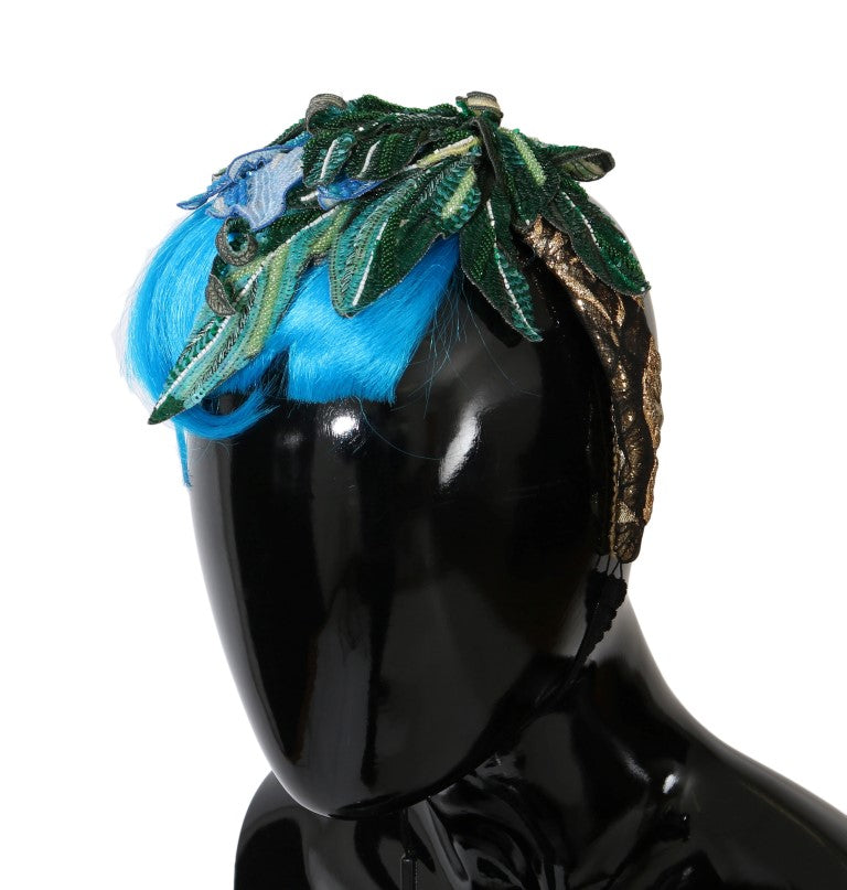 Blue Hair Sicily Floral Headband