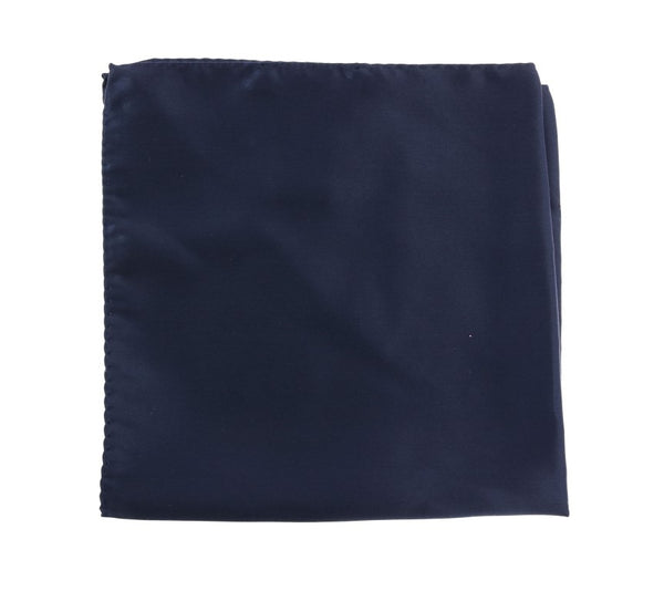 Blue Square Silk Handkerchief