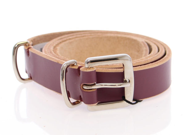 Purple Leather Logo Belt