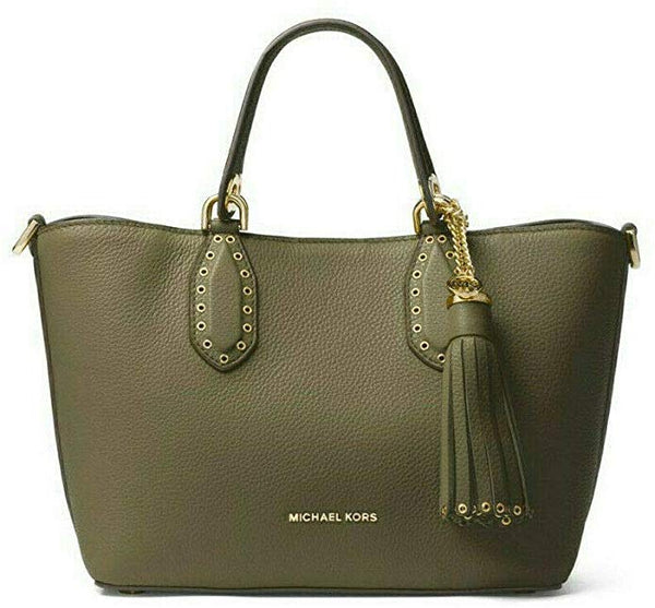 Brooklyn Small Leather Satchel Grab Bag