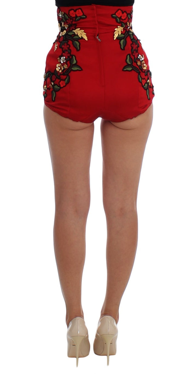 Red Silk Roses Sicily Shorts