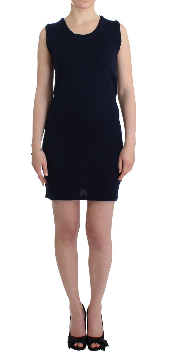 Blue cotton jersey dress