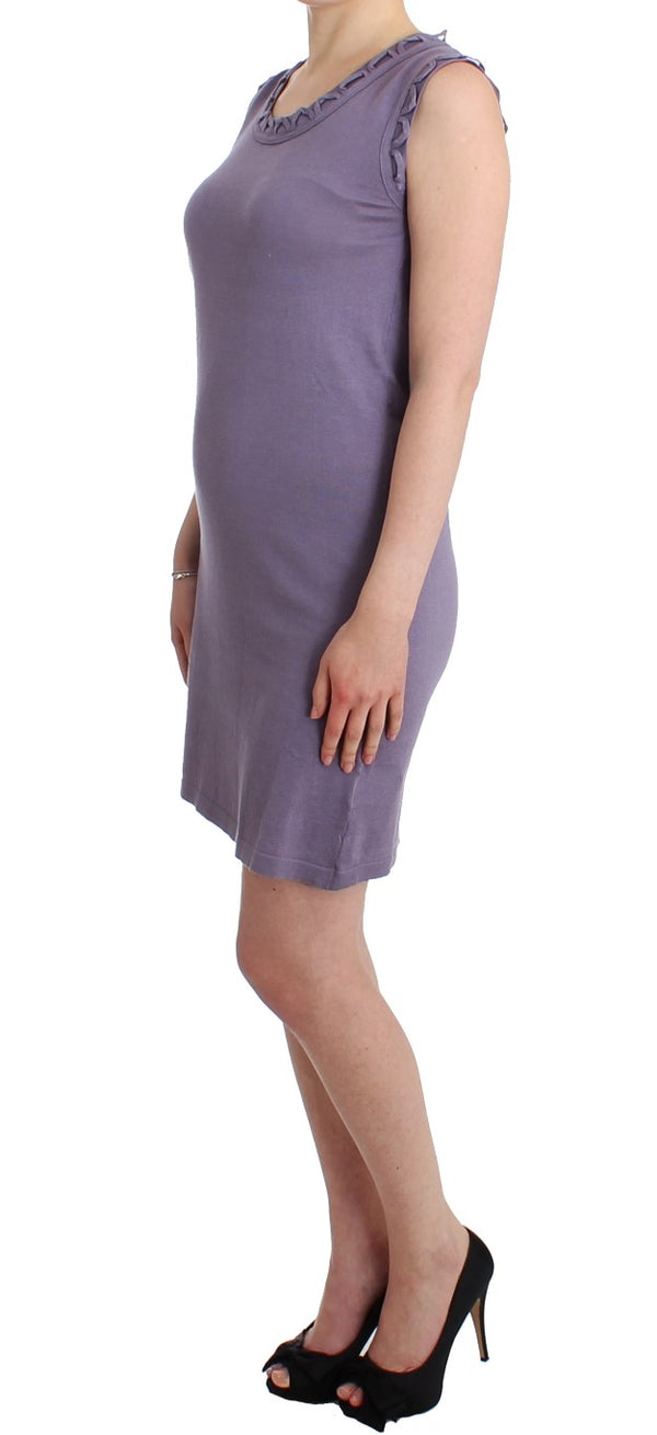 Purple cotton jersey dress