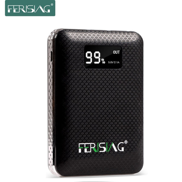FERISING Power Bank 3 USB External 18650 Lithium Battery 10000mAh+ 2A Charger Portable with LED Display (Clearance  Sale)