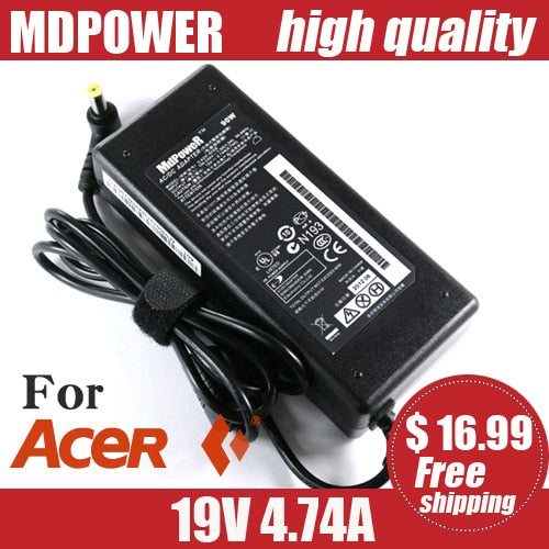 For ACER Aspire 5738ZG 5739G 5740G 6920G 6930G 6935G 7520G 7530G 7535G 7540G laptop power supply AC adapter charger 19V 4.74A