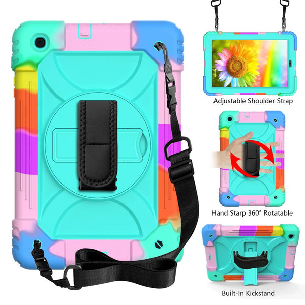 For Samsung Galaxy Tab A 10.1 2019 Case SM-T510 T515 Heavy Duty Kids Rugged Cases Hard PC Silicone High Impact Tablet Cover