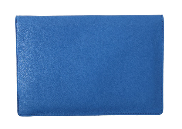 Blue Leather Cover Unisex Folder Tablet Case