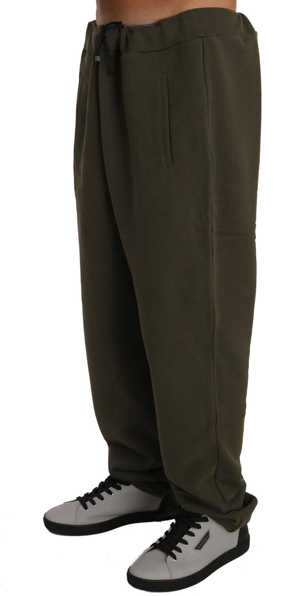 Green Fleece Mens Gym Trouser