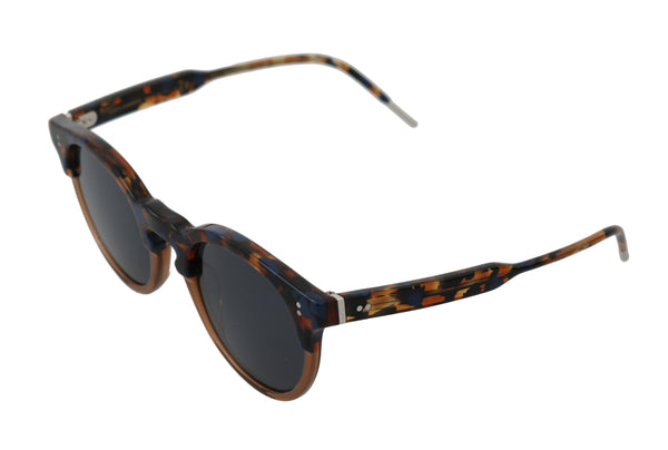 Blue Brown Pattern DG4329 Oval Logo Mens Sunglasses