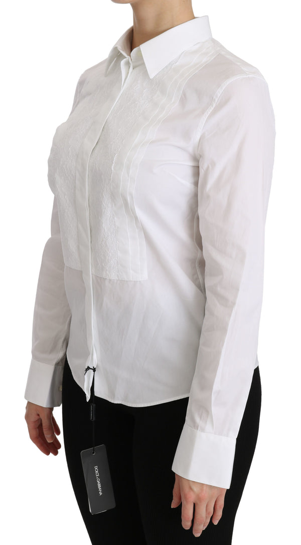 White Collared Long Sleeve Polo Shirt