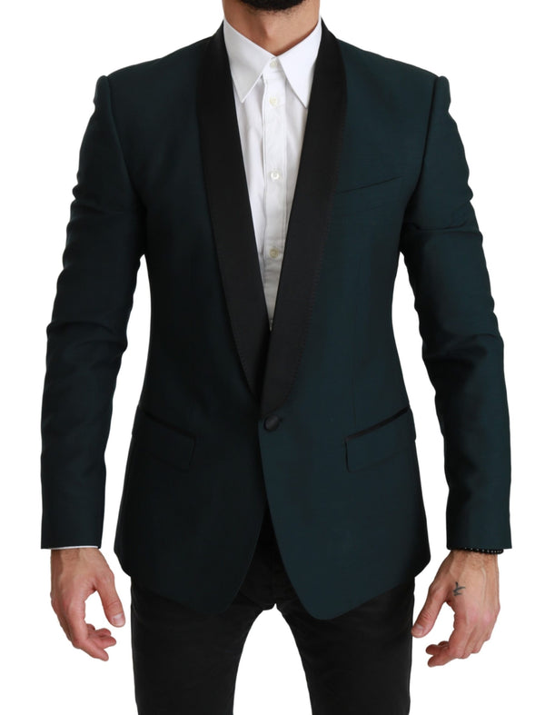 Green Wool MARTINI Logo Jacket Blazer