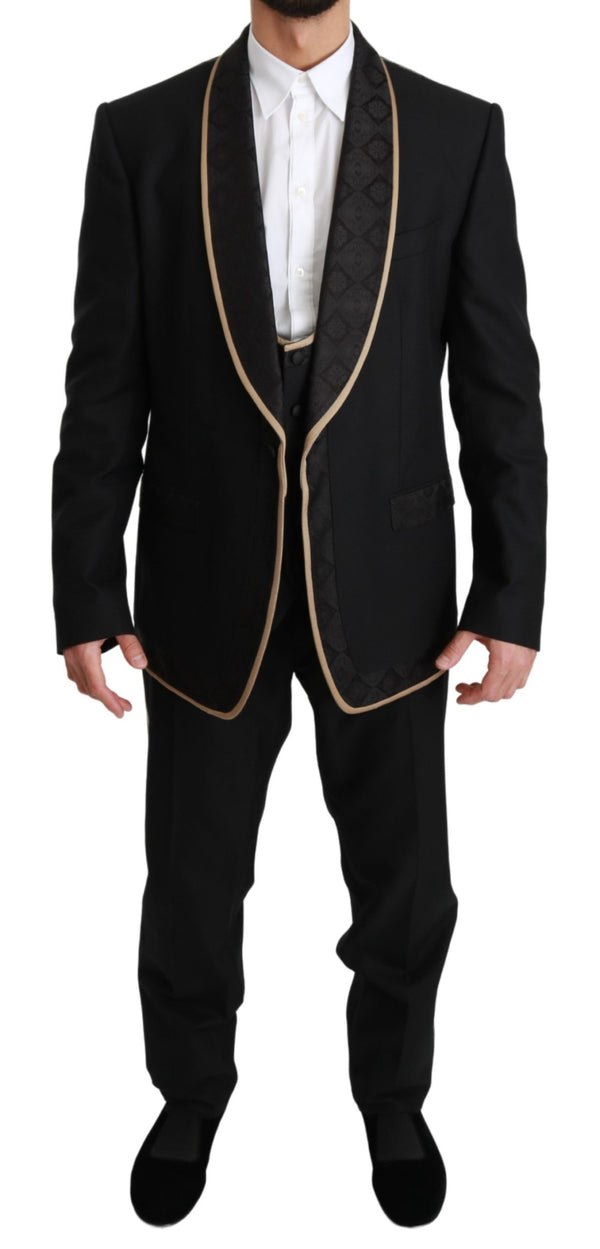 Black Single Breasted 3 Piece SICILIA Suit