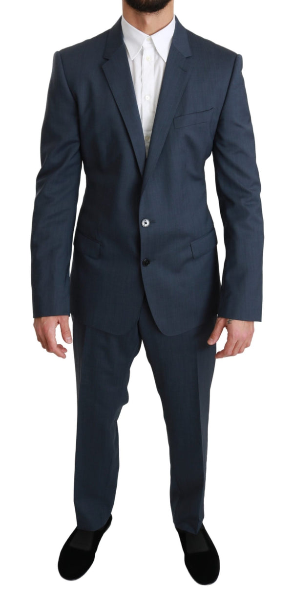Blue Wool MARTINI Stretch 2 Piece Suit