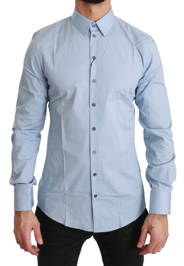 Blue SICILIA Formal Dress Cotton Shirt