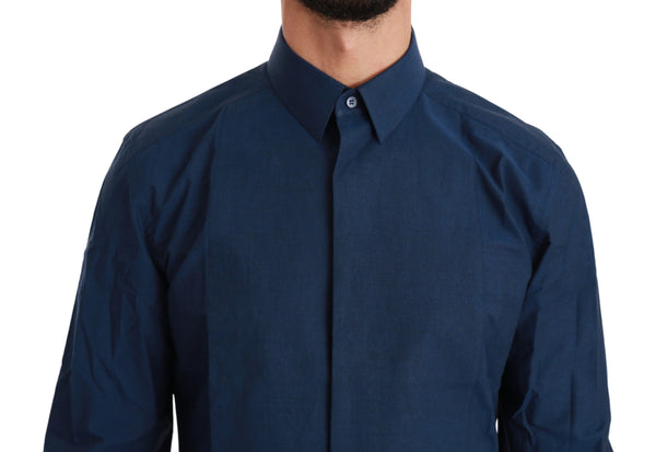 Blue GOLD Formal Dress Cotton  Shirt