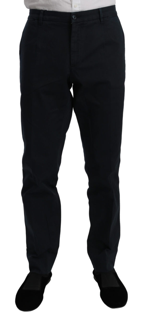 Blue Chinos Stretch Cotton Jeans Trouser