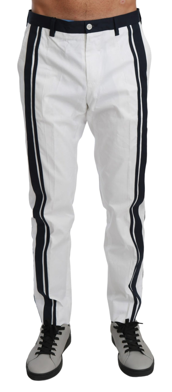 Blue White StripeD Casual Trouser Cotton Pants