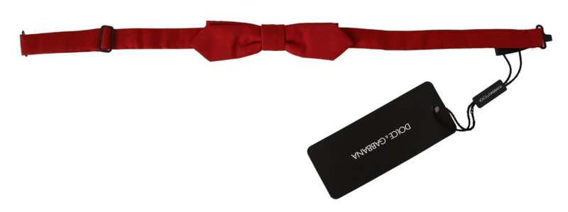 Red Slim Skinny Mens Necktie 100% Silk Bow Tie