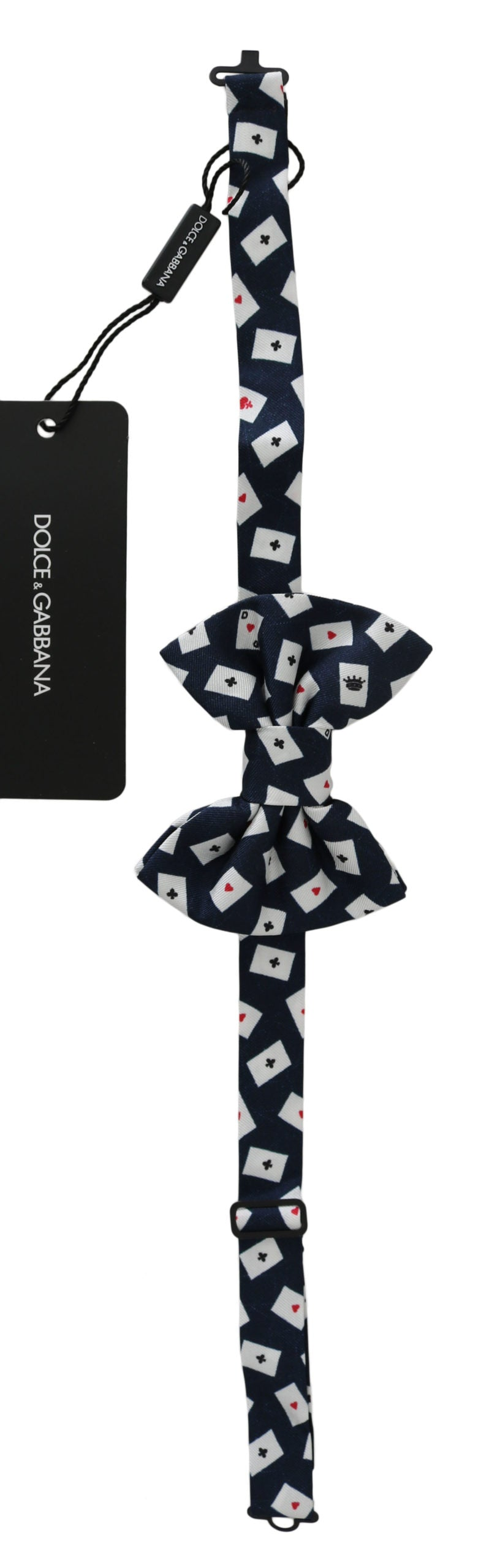 Navy Blue Deck Of Cards Adjustable Butterfly  Bow Tie