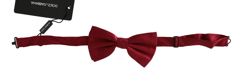 Red 100% Silk Adjustable Neck Butterfly Bow Tie