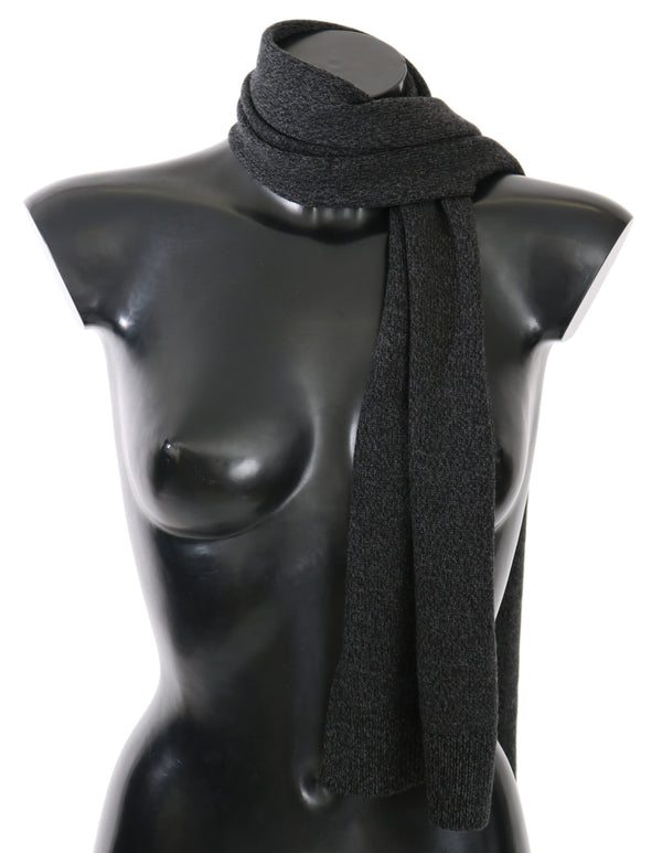 Gray Wool Mens Shawl Wrap Scarf