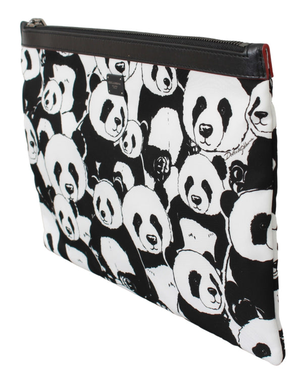 Black Panda Toiletry Clutch Hand Purse Hand Pouch Bag