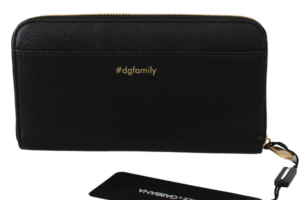 Black #dgfamily Evil Continental Clutch Leather Wallet