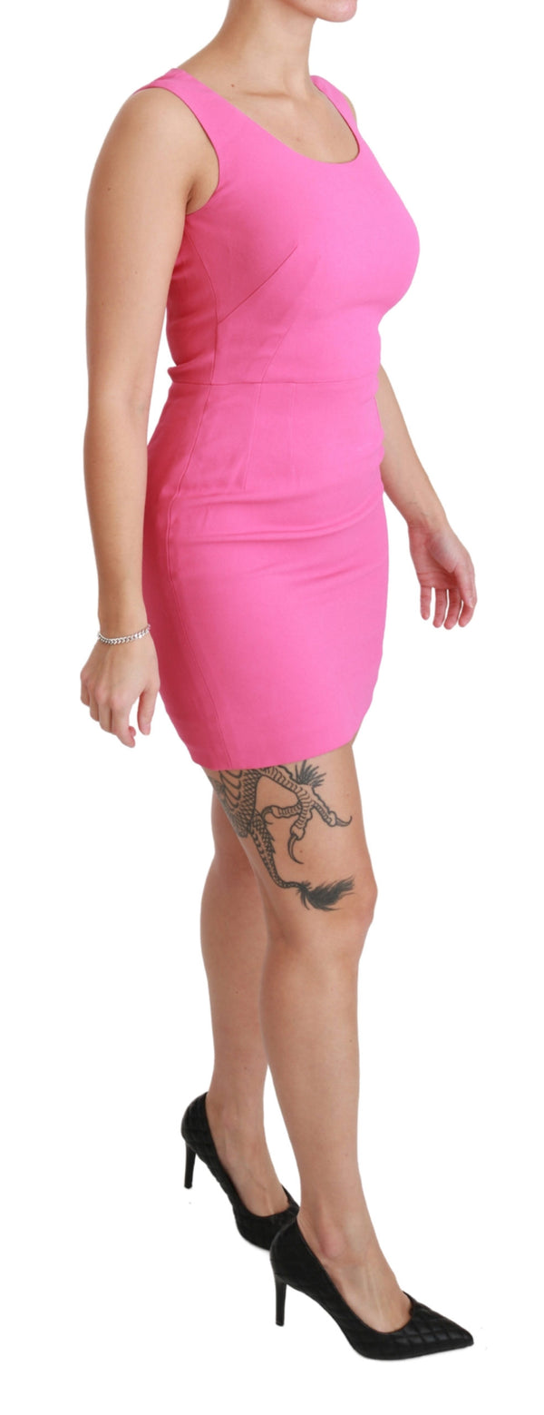 Pink Stretch Sheath Mini Bodycon Dress