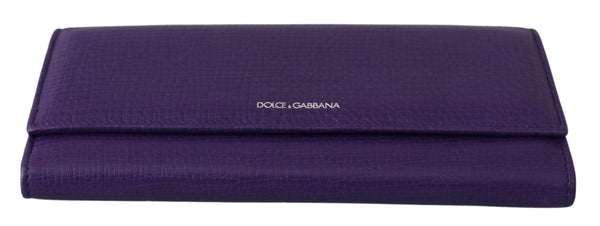 Purple Bifold Continental Clutch 100% Leather Wallet