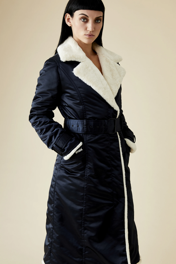 "DANNY ""TEDDY BEAR HUG"" COAT - BLACK"