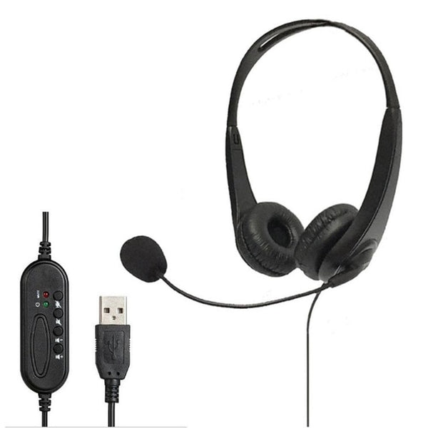 Telephone Headset Call Center Operator USB Noise Cancelling Corded Offical Headphone With Micro For Computer Laptop PC