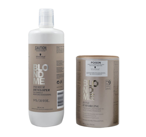 Schwarzkopf Blondme Premium Developer 9% And Premium Lightener 450g