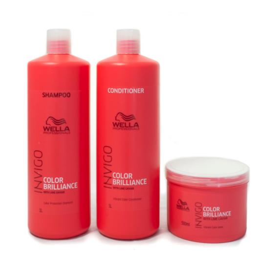 Wella Invigo Color Brilliance Shampoo And Conditioner 1000ml + 500 Mask