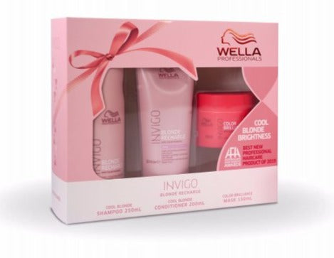 Wella Invigo Blonde Recharge Cool Blonde Gift Set