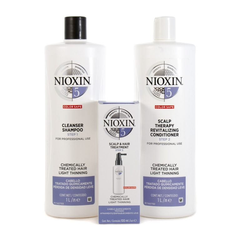 Nioxin System 5 Cleanser Shampoo And Scalp Revitaliser Conditioner 1000ml Plus 100ml Treatment