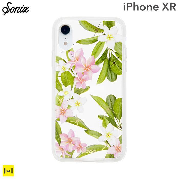 [iPhone XR専用]Sonix CLEAR COAT CASE(PLUMERIA)