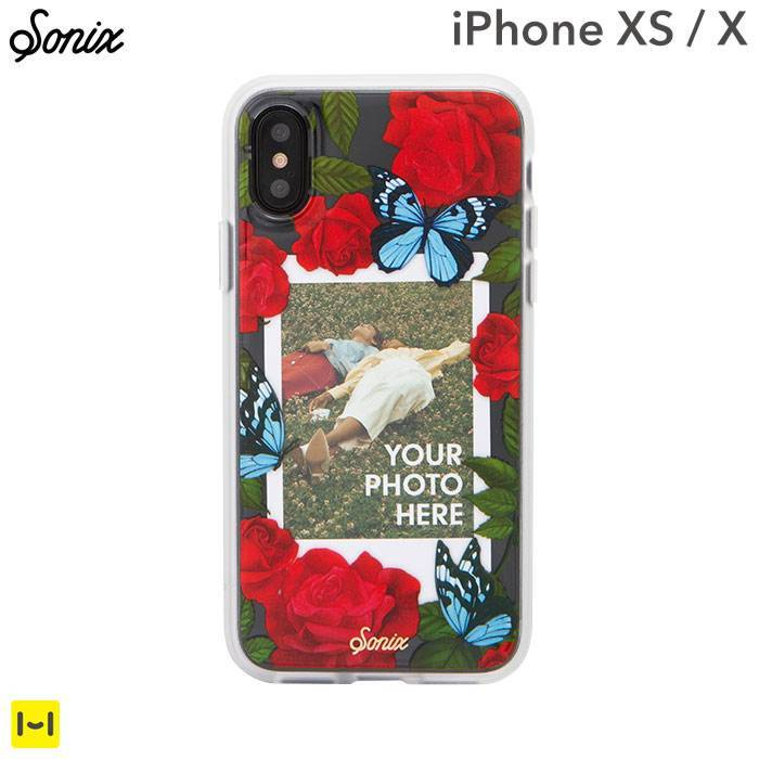 [iPhone XS/X専用]Sonix CLEAR COAT CASE(BUTTERFLY PHOTO CASE)