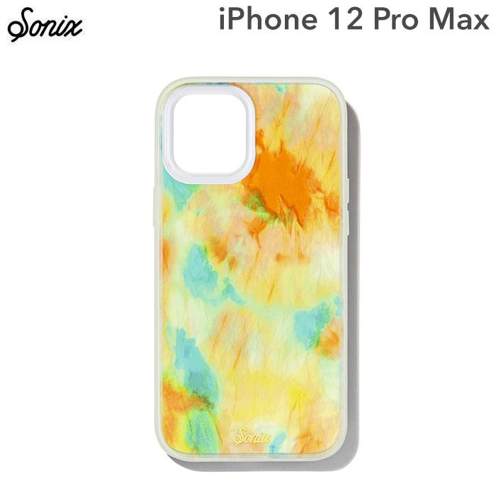 [iPhone 12 Pro Max専用]Sonix AntiMicrobial Clear Coat Case(ORANGE GLOW)