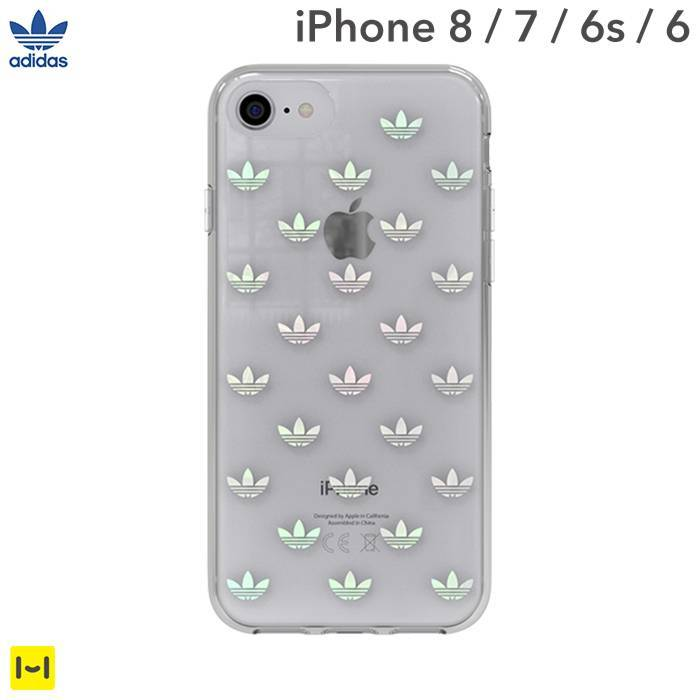 [iPhone 8/7/6s/6 ケース]adidas Originals TPU Clear Case(Trefolis/Colorful Logo)