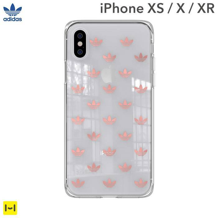 [iPhone XS/X/XR専用]adidas Originals TPU Clear Case(Clear Rose Gold)