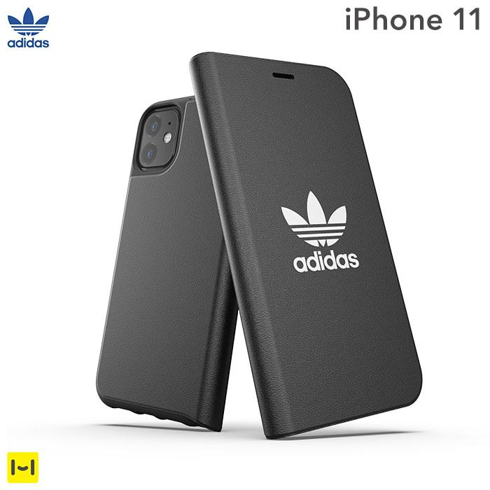 [iPhone 11専用]adidas Originals Booklet Case BASIC(Black/White)