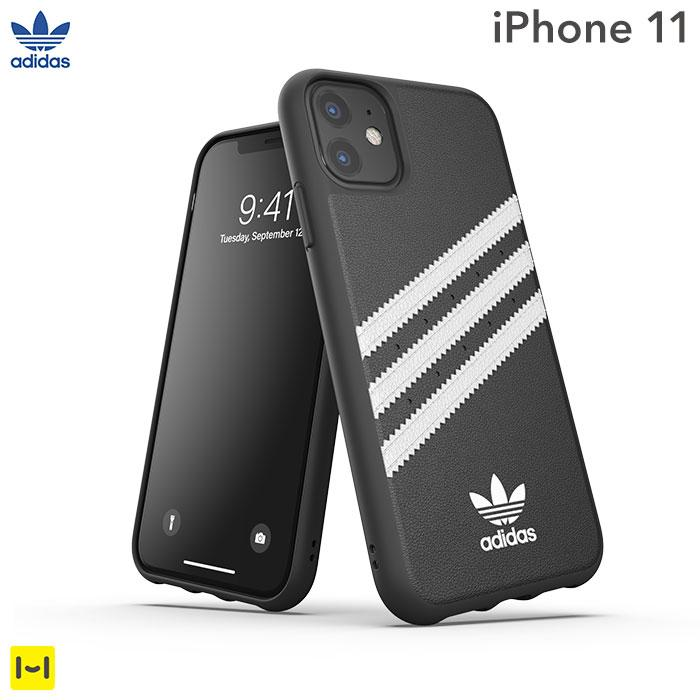 [iPhone 11専用]adidas Originals Moulded Case SAMBA(Black/White)