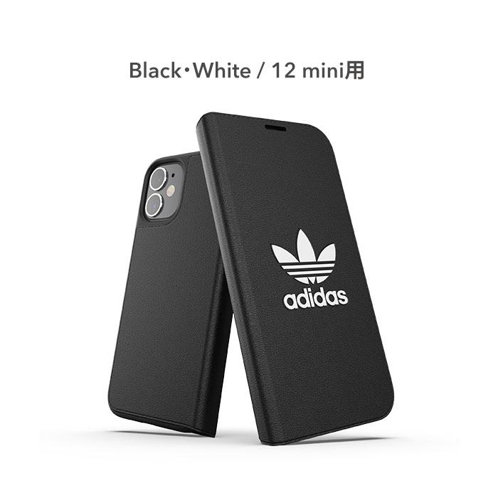 [iPhone 12/12 mini/12 Pro専用]adidas Originals Booklet Case BASIC