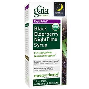 Black Elderberry NightTime Syrup 3oz - HolisticHealthPartners