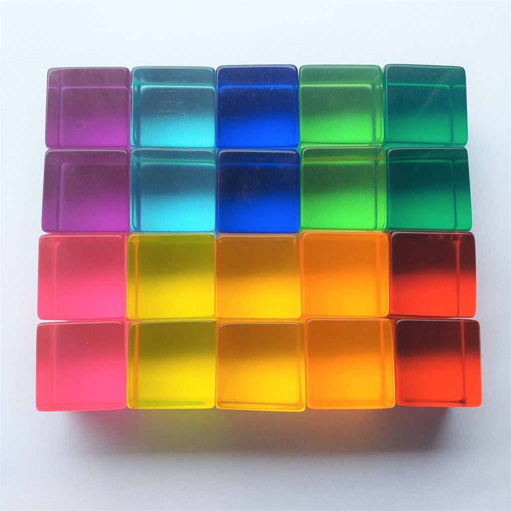 Bauspiel lucite cubes set of 20