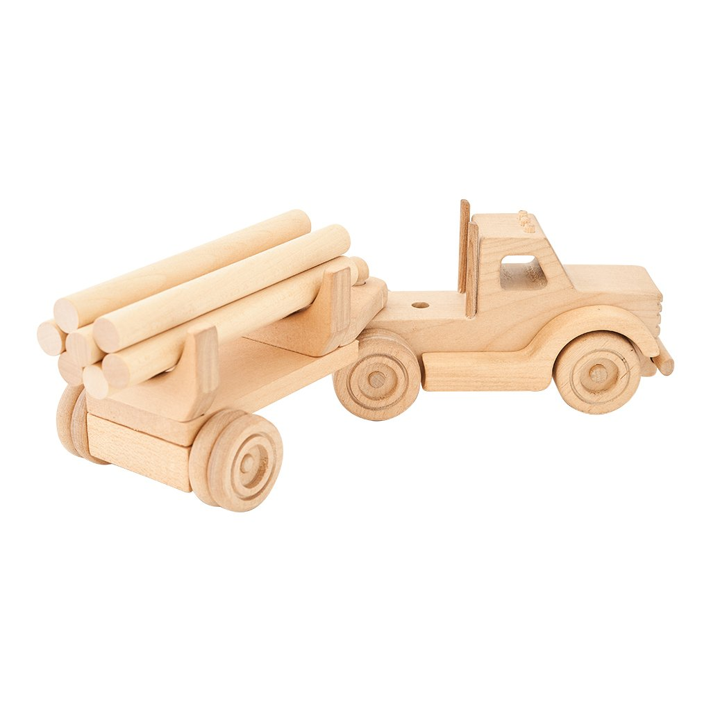 Kubi Dubi wooden truck set called Willy rear view
