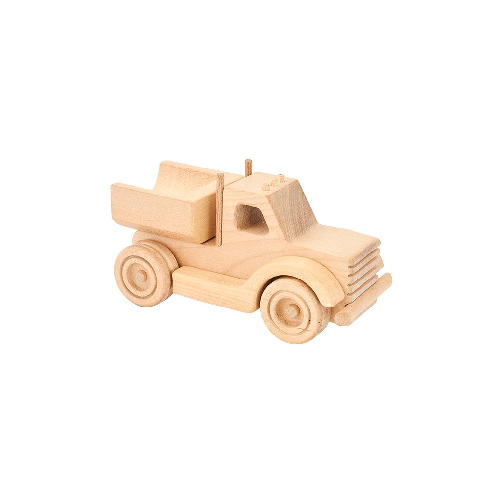 Kubi Dubi wooden truck set called Willy with dump tray attached